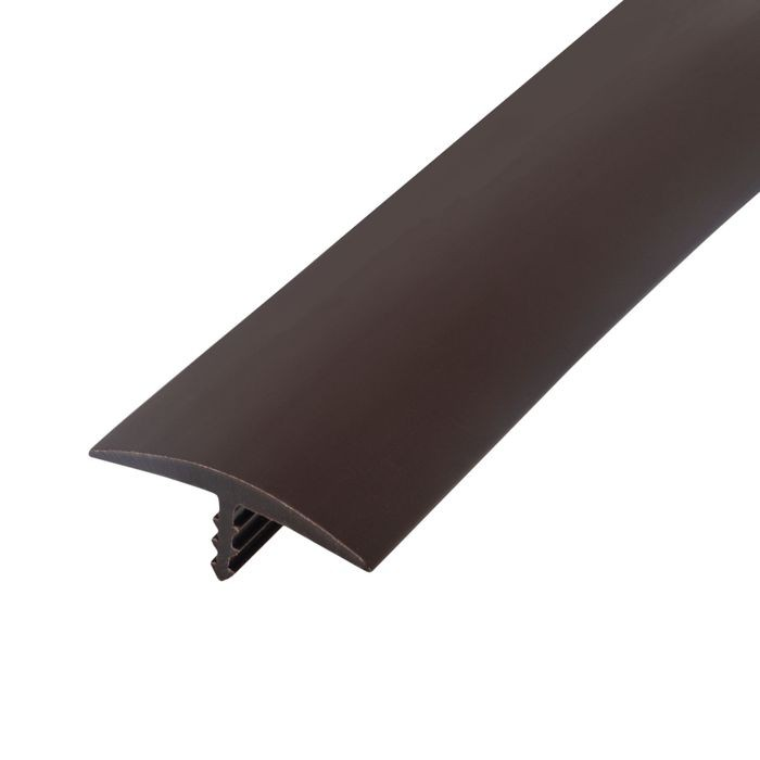1-1/8in 742 Angola Brown Flexible Polyethylene | Center Barb Tee Moulding | 250ft Coil