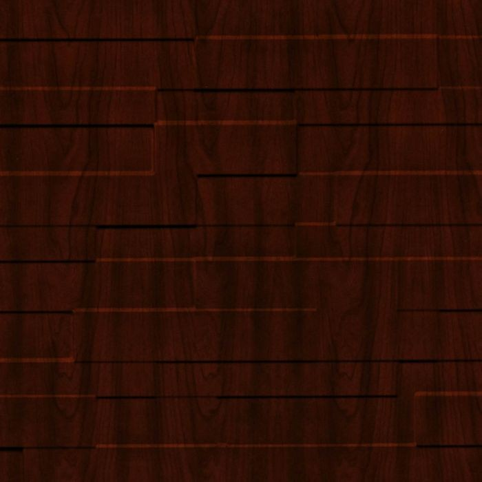 10' Wide x 4' Long Tetrus Pattern Welsh Cherry Finish Thermoplastic Flexlam Wall Panel