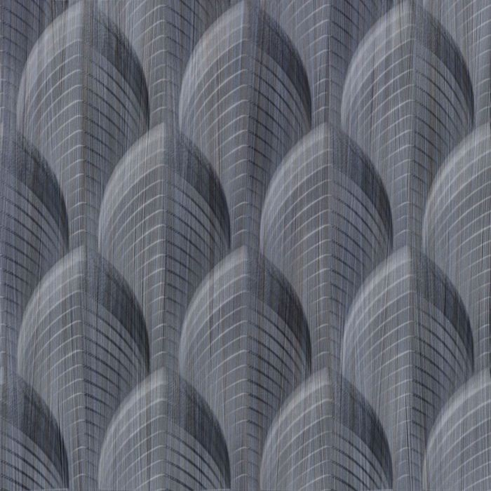 10' Wide x 4' Long South Beach Pattern Steel Strata Finish Thermoplastic Flexlam Wall Panel
