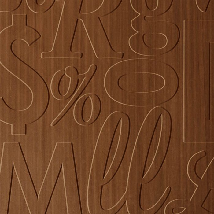 FlexLam 3D Wall Panel | 4ft W x 10ft H | Alphabet Soup Pattern | Pearwood Finish