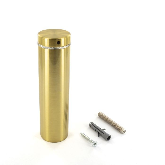 1-1/4in Dia x 4in Barrel Length | Bright Brass Finish | Premium Steel X Series Secure Fasten Standoff