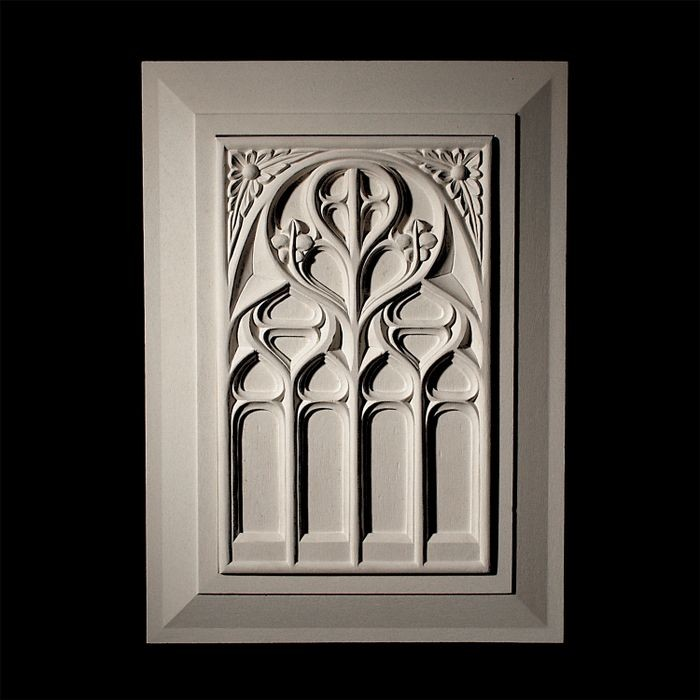 "14-1/4"" Wide x 23-3/4"" High Unfinished Polymer Resin Panel"