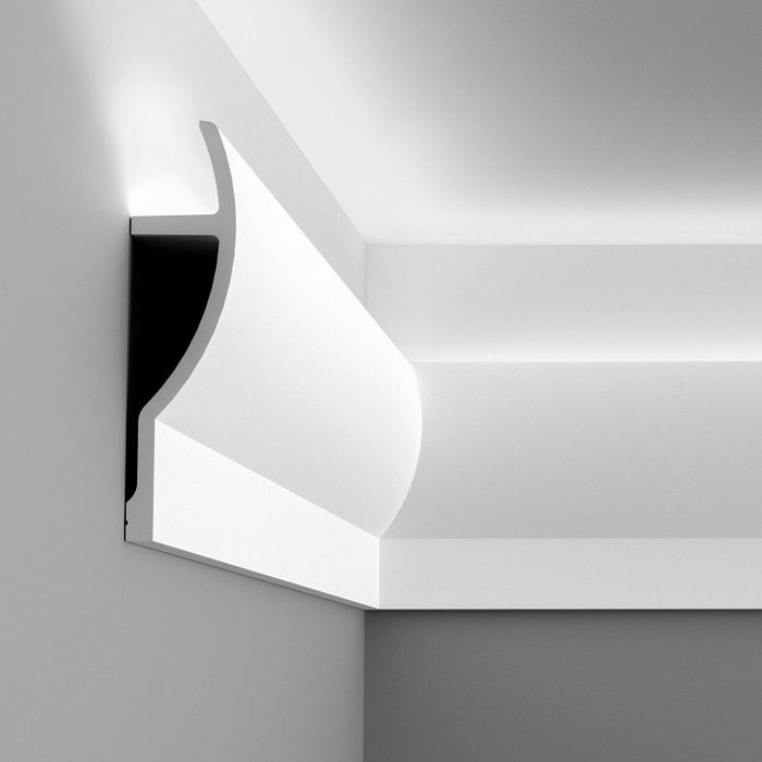 Orac Decor | High Density Polyurethane Moulding for Indirect Lighting | Primed White