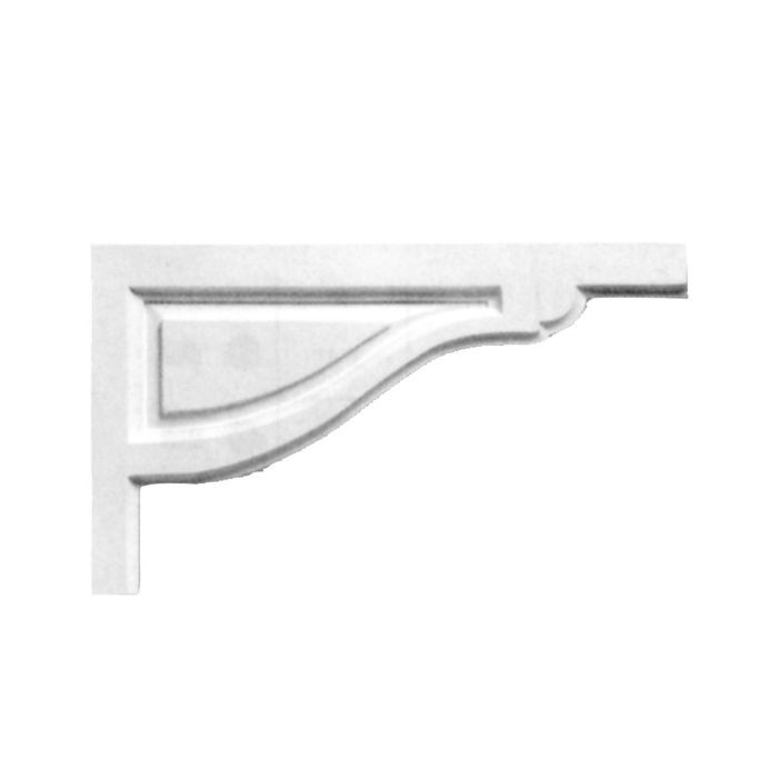 "12"" Wide x 7-1/2"" High Primed White Stair Bracket"