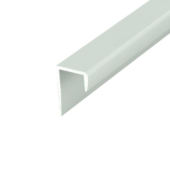 1/2in Clear Anodized (Satin) Finish | Aluminum Cap Moulding | 12ft Length