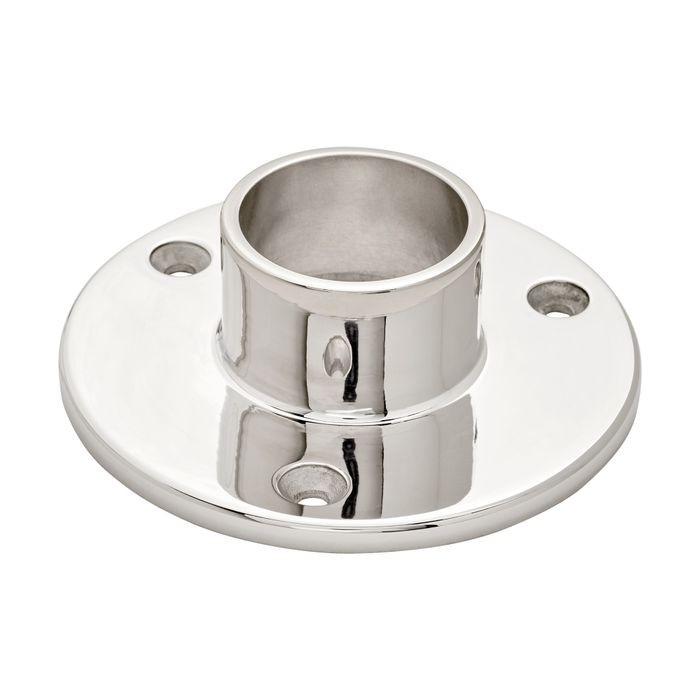 1-1/2in Dia x 1-1/2in H | Polished Stainless Steel Finish | Flange