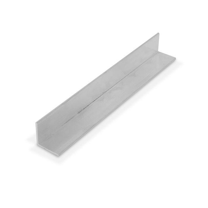 13/16in x 13/16in x 1/16 Thick | Mill Finish Aluminum Even Leg | 90° Angle Moulding | 12ft Length