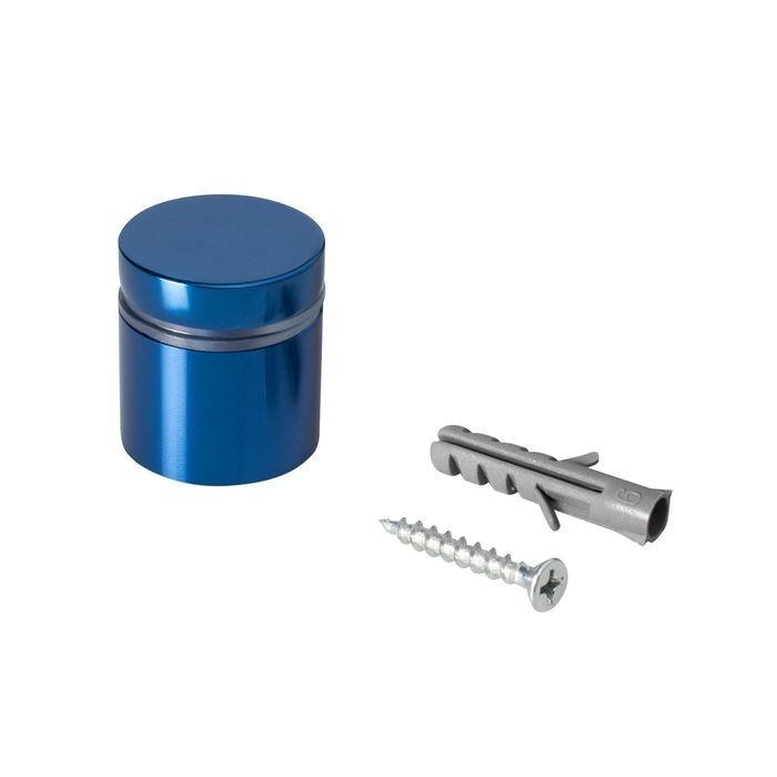 "1"" Diameter x 3/4"" Barrel Length Blue Aluminum Eco Series Easy Fasten Standoff"