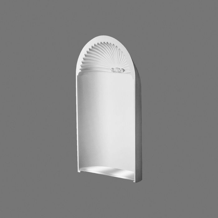 Orac Decor | High Density Polyurethane Recessed Niche Shell | Primed White | 38-3/4in H x 21-7/8in W