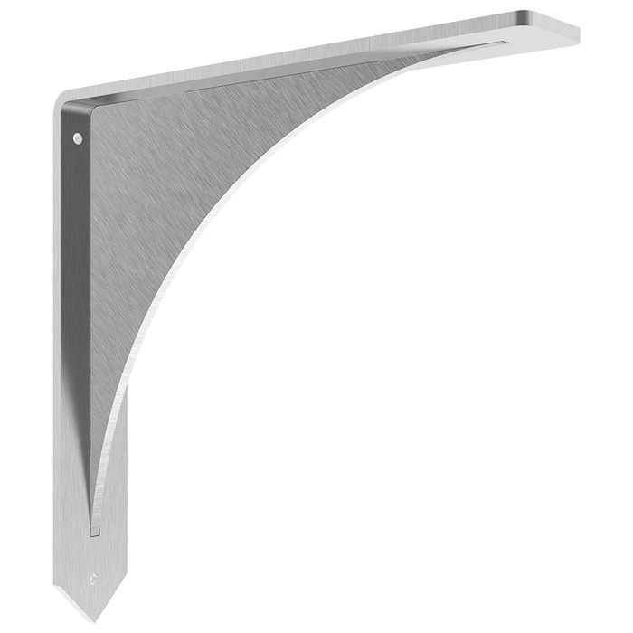 12in H x 12in D | Stainless Steel | Low Profile Stainless Steel Countertop Support Bracket | CSBCA Series