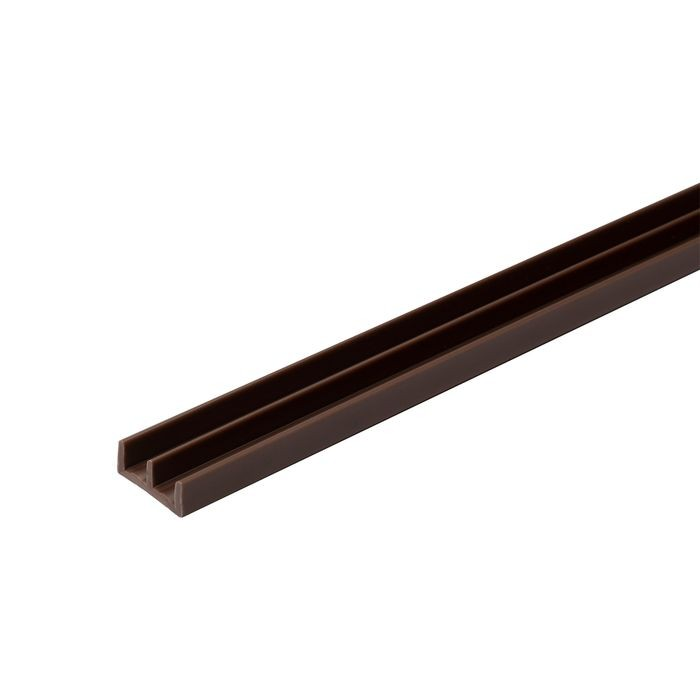 1/4in W | Lower Sliding Door Track | Brown Color | 12ft Length