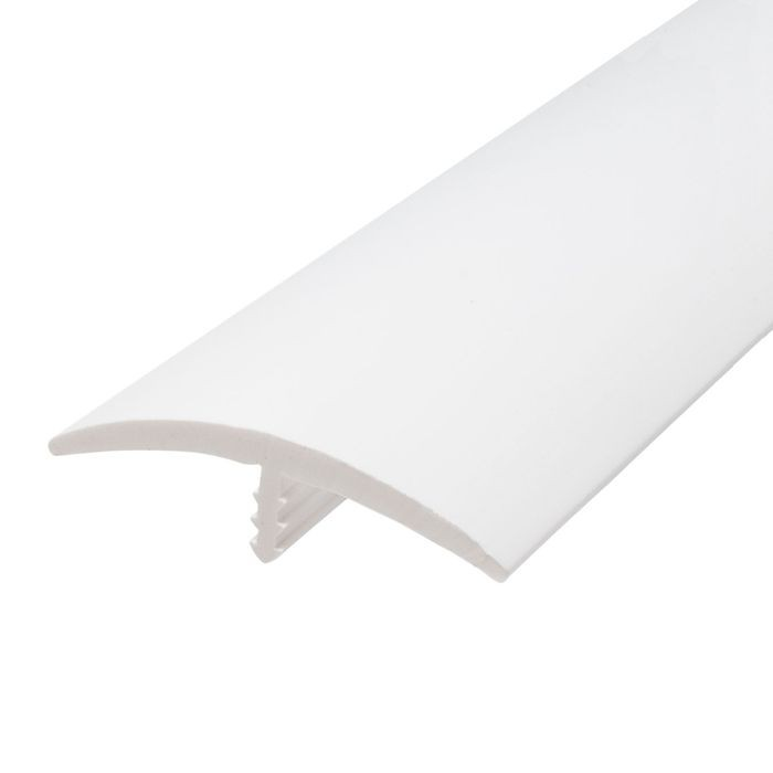 1-1/2in 601 White Flexible Polyethylene | Center Barb Tee Moulding | 250ft Coil