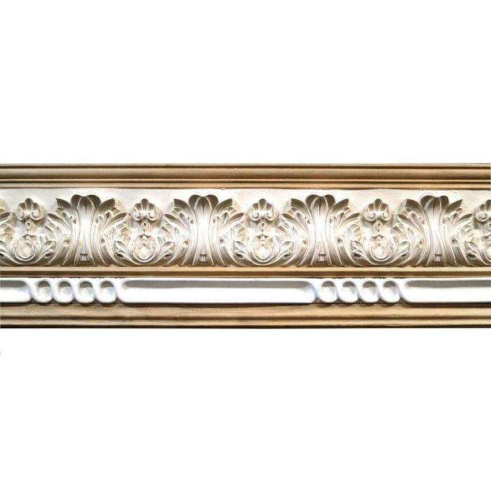 10in H x 1-1/2in Proj | Unfinished Polymer Resin | 480-B Series with Bottom Style 3 | Frieze Moulding | 5ft Long