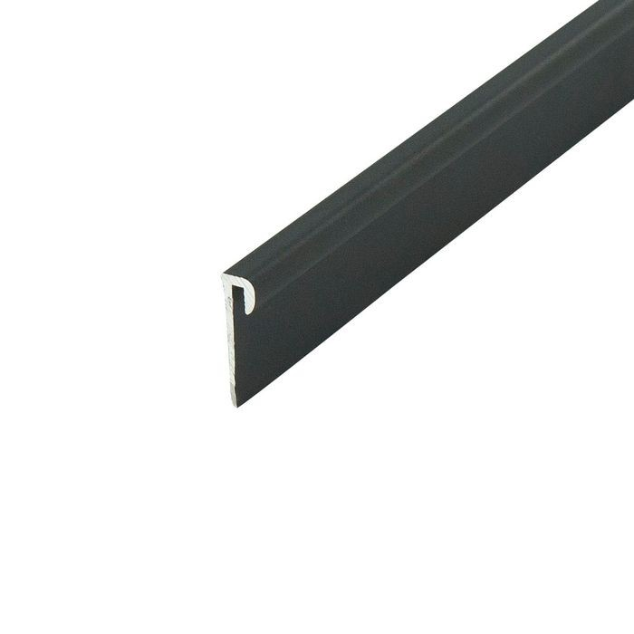 1/16in Black Aluminum | Cap Moulding | 12ft Length
