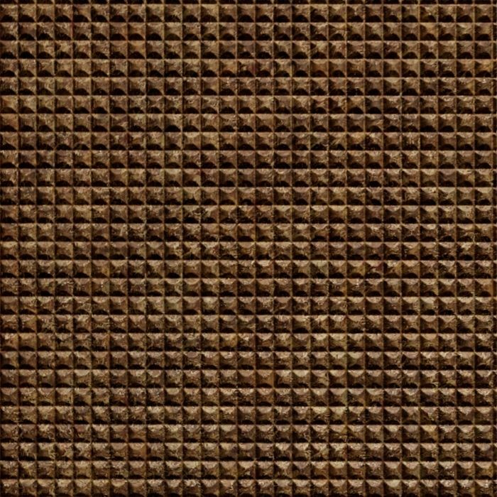 10' Wide x 4' Long Chocolate Square Pattern Bronze Fantasy Finish Thermoplastic Flexlam Wall Panel
