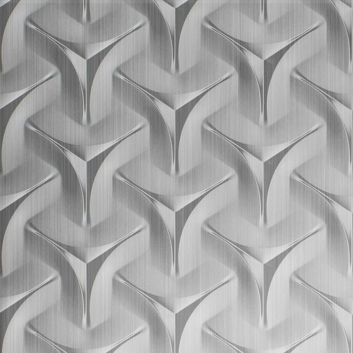 FlexLam 3D Wall Panel | 4ft W x 10ft H | Japanease Weave Pattern | Brushed Aluminum Finish