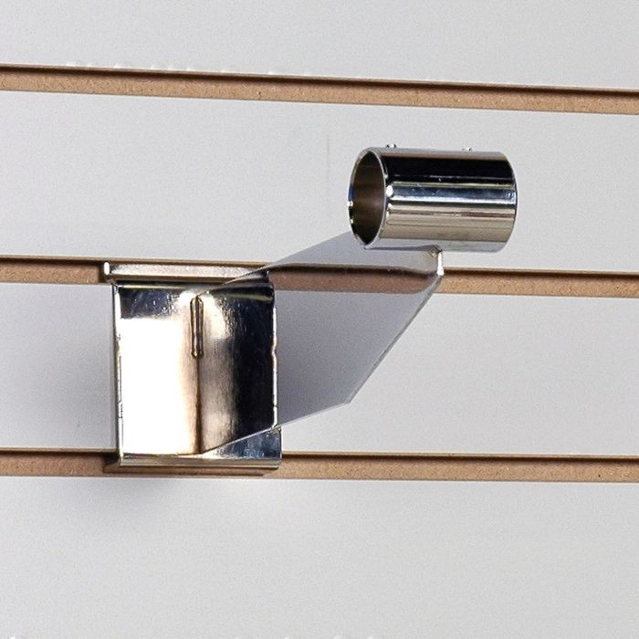"10"" Long Bright Chrome Finish Steel Hangrail Bracket for Slatwall"