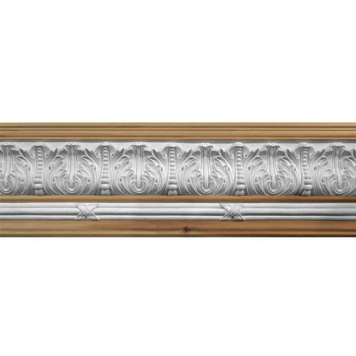 10in Face x 7-1/2in H x 7-1/2in Proj | Unfinished Maple Hardwood/Polymer Resin | 480-A Series with Bottom Style 6 | Composite Wood | Crown Moulding | 5ft Long