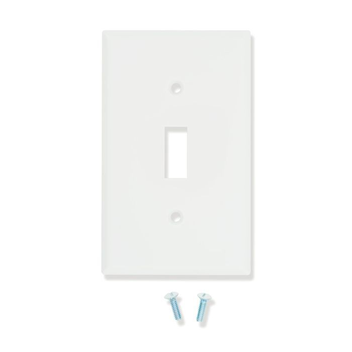 White Plastic Single Switchplate Cover