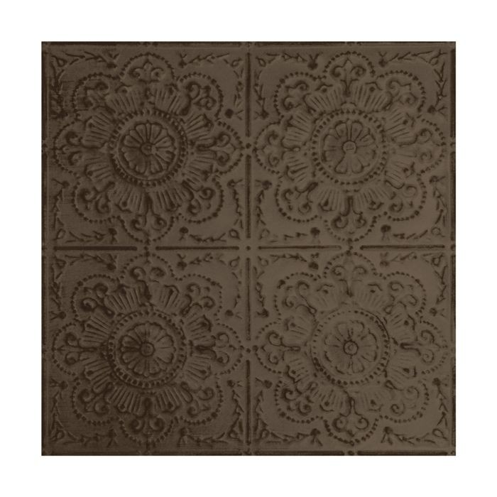 Tin Plated Stamped Steel Ceiling Tile | Nail Up/Glue Up Ceiling Tile | 2ft Sq | Antique Taupe Finish