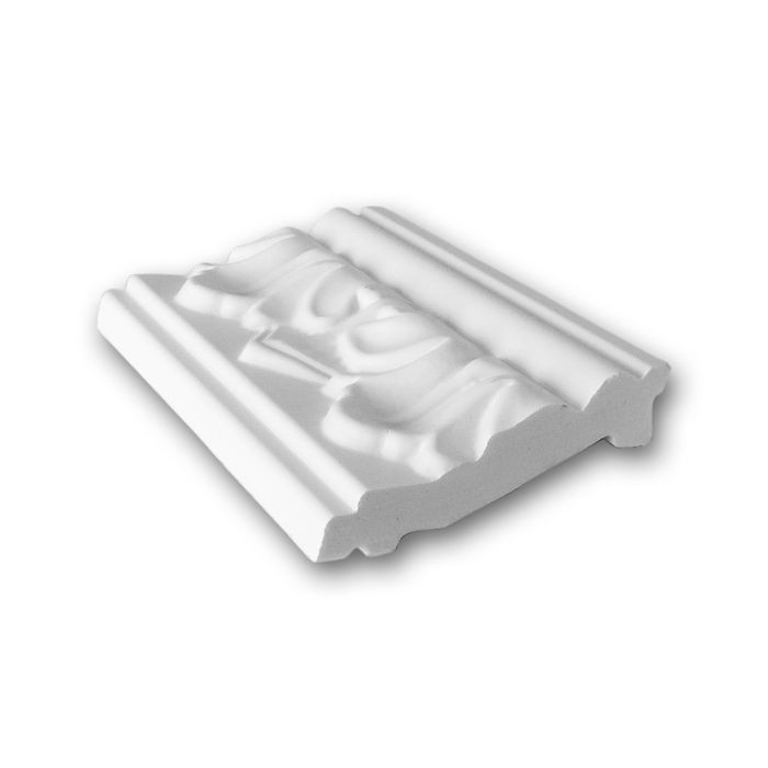 Orac Decor | High Density Polyurethane Crown Moulding | Primed White | 4in Sample Piece | C214 Series
