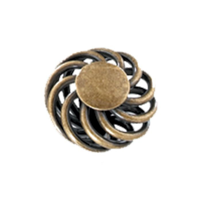 "1-1/2"" Diameter Steel Knob Antique Brass"
