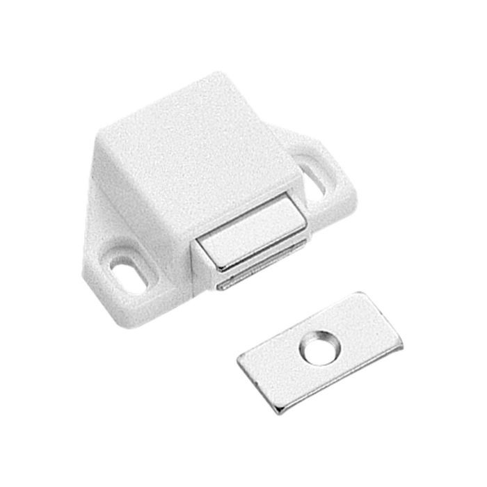 White ABS Single Magnetic Touch Latch