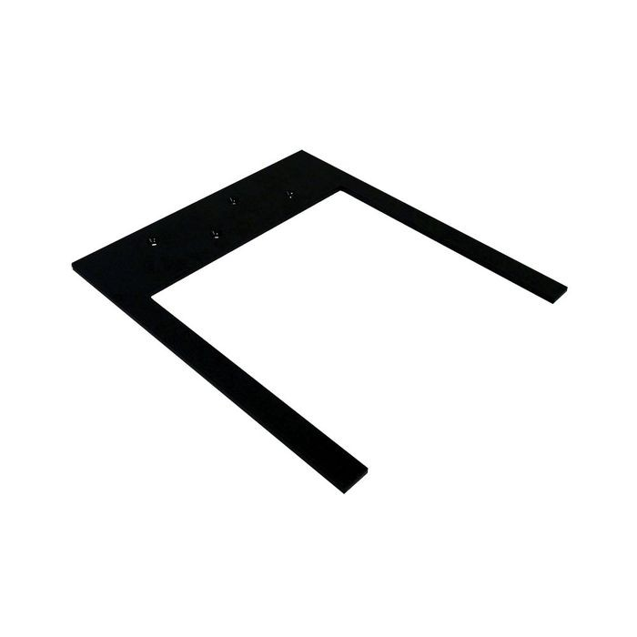 10in x 12in x 1/4in Thick | Powder Coated Black Finish | Floating Steel Vanity Countertop Support Bracket