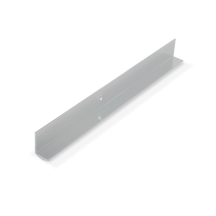 1/2in Mechanical Polished Finish Aluminum | Cove Moulding With Holes | 12ft Length