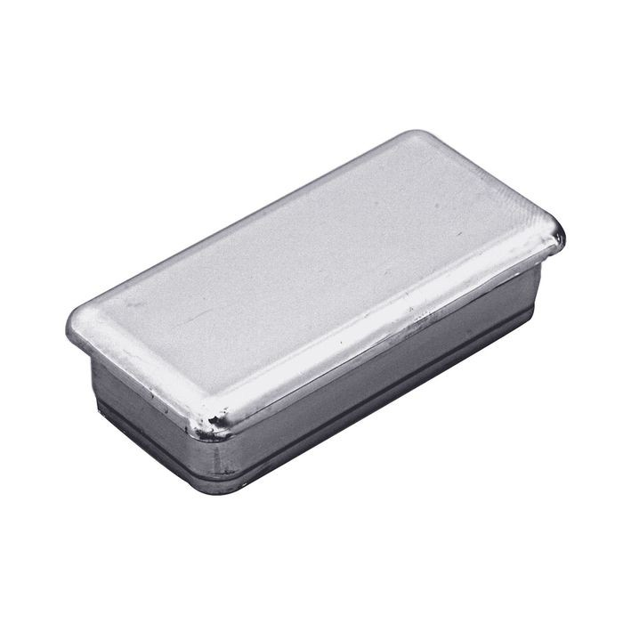 "1"" x 2"" Rectangular 16 Gauge Chrome Plated ABS Chrome PlatedPlastic Inside End Cap for Tubing"