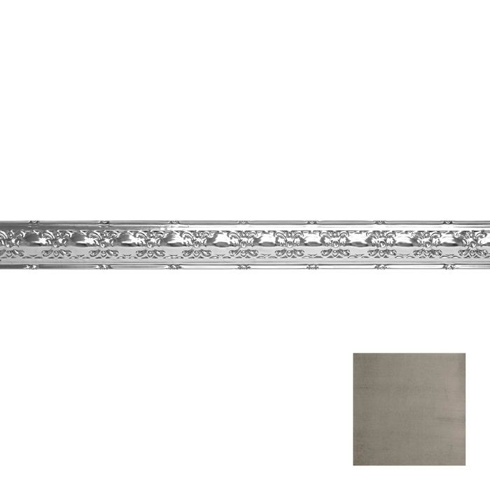 Tin Plated Stamped Steel Cornice | 4in H x4in Proj | Copper Verde Finish | 4ft Long