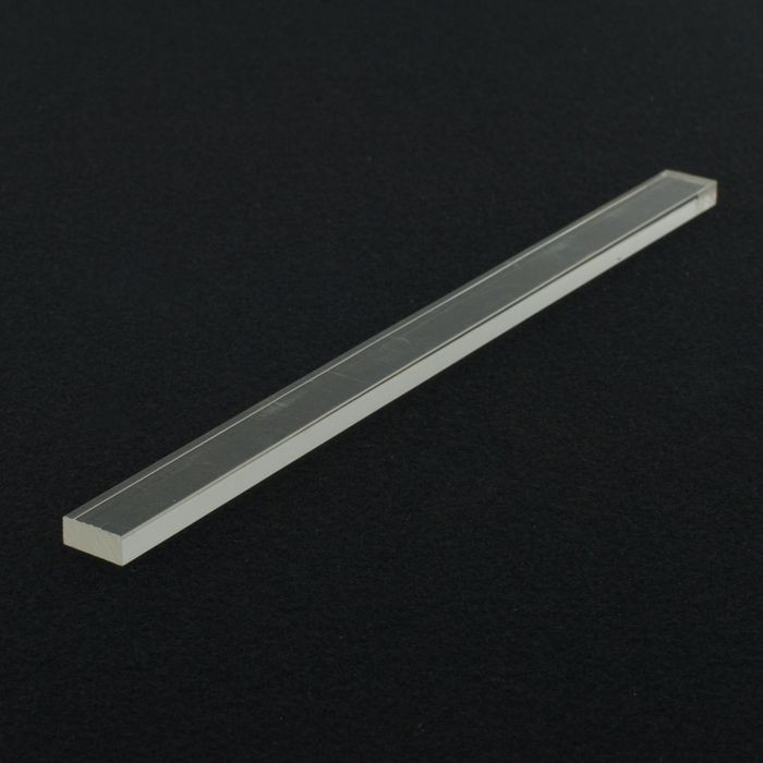 1/4in x 1/2in | Clear Acrylic Rectangular Bar | 6ft Length