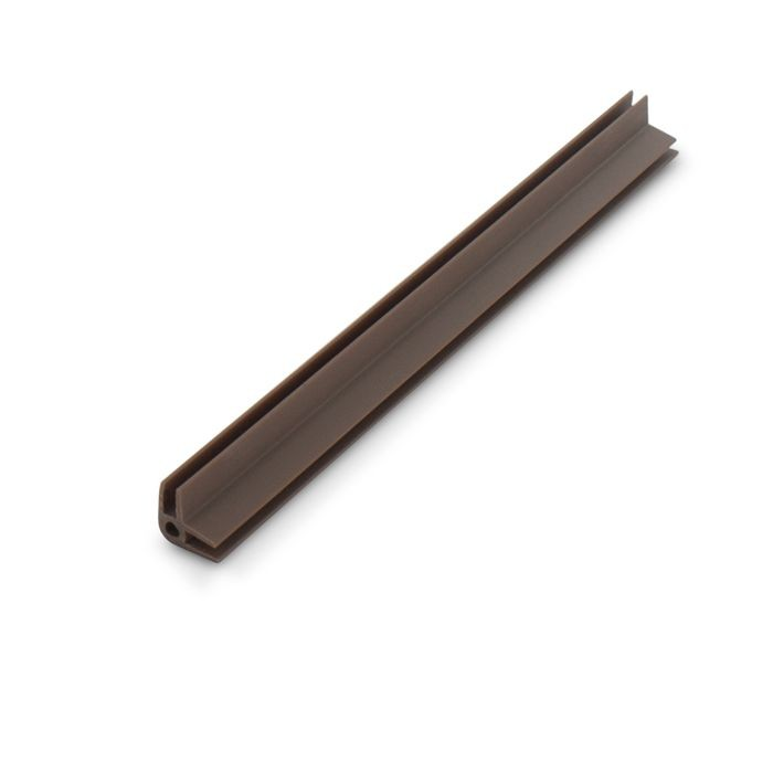 1/8in Brown Styrene | 90 Degree Outside Corner Channel | 12ft Length