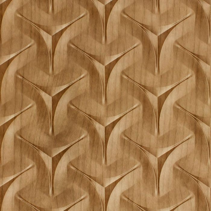 10' Wide x 4' Long Japanease Weave Pattern Oregon Ash Finish Thermoplastic FlexLam Wall Panel