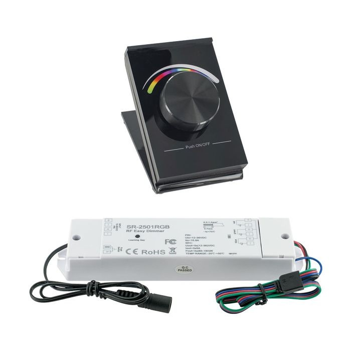 Wireless Desk Type | RF RGB Controller with Receiver | 12V/24V