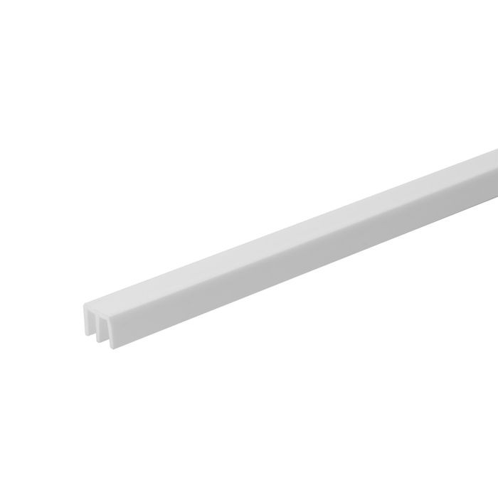 1/8in W | Upper Sliding Door Track | White Color | 12ft Length