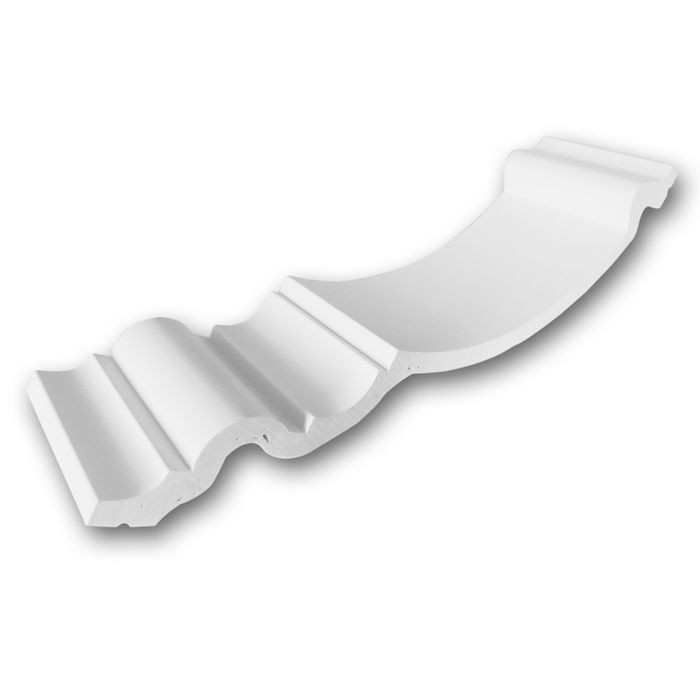 Orac Decor | High Density Polyurethane Foam Crown Moulding | Primed White | 4in Sample Piece | C336 Series