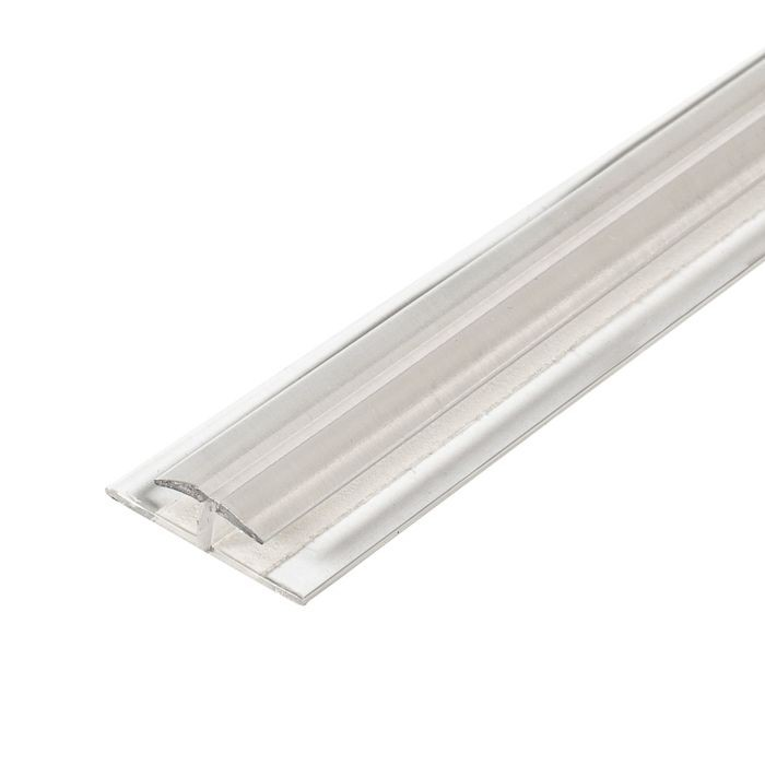 "1/8"" Clear Butyrate Divider Moulding With Adhesive 12' Length"