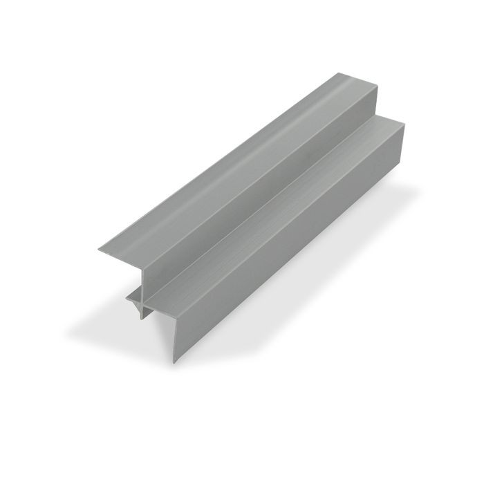 "1/2"" Clear Anodized (Satin) Finish Aluminum 90 Degree Inside Corner Channel 12' Length"
