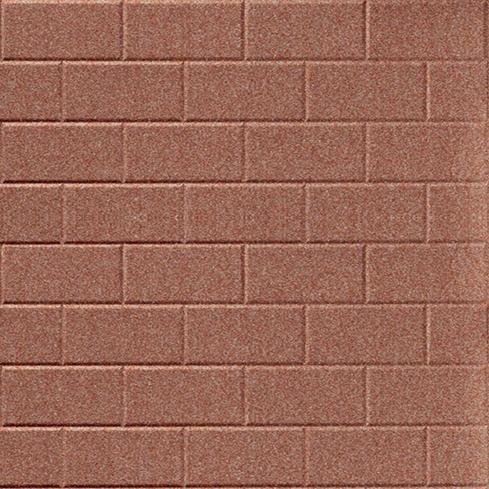 10' Wide x 4' Long Subway Tile Pattern Argent Copper Finish Thermoplastic Flexlam Wall Panel