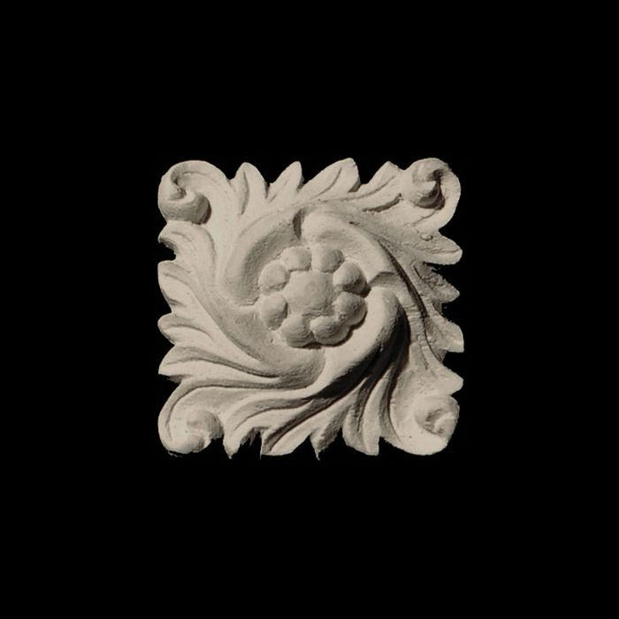 "1-1/2"" Wide x 1-1/2"" High Unfinished Polymer Resin Deco Applique"