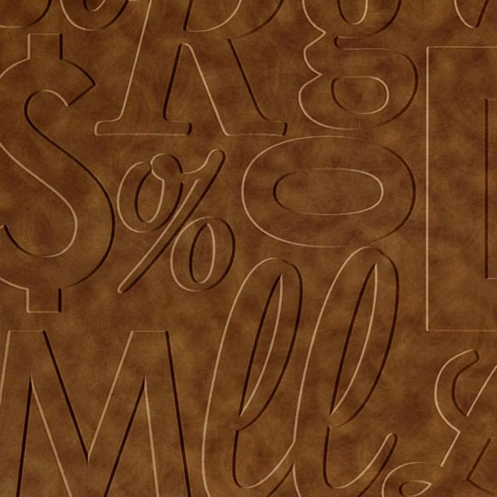 10' Wide x 4' Long Alphabet Soup Pattern Antique Bronze Finish Thermoplastic Flexlam Wall Panel
