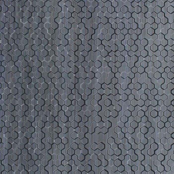 10' Wide x 4' Long Beehive Pattern Steel Strata Finish Thermoplastic Flexlam Wall Panel