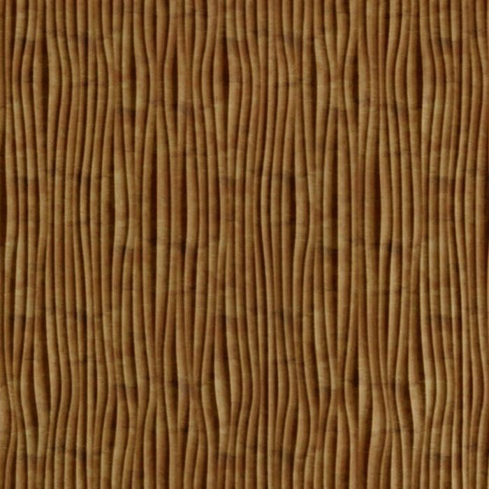 FlexLam 3D Wall Panel | 4ft W x 10ft H | Gobi Pattern | Muted Gold Vertical Finish
