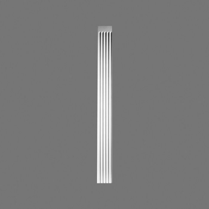 Orac Decor | High Density Polyurethane Foam Pilaster | Primed White | 7-5/8in W x 78in Long