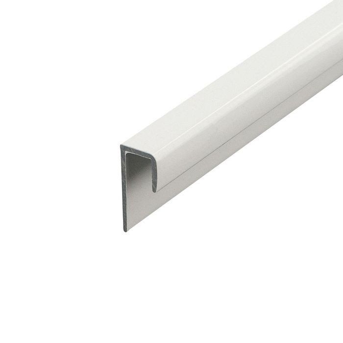 1/4in to 9/32in White | Aluminum Cap Moulding With Holes | 12ft Length