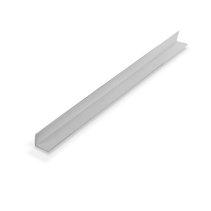 1/2in x 1/2in x 3/64in (.055in) Thick | White Styrene Even Leg | 90° Angle Moulding | 12ft Length