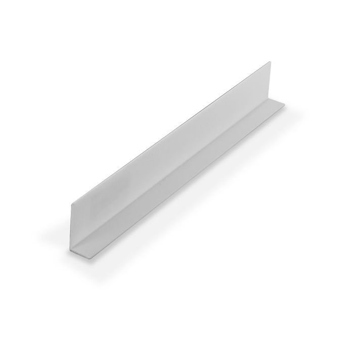 "1"" x 1/2"" x 3/64"" (.040"") Thick White Styrene Uneven Leg 90° Angle Moulding 12' Length"