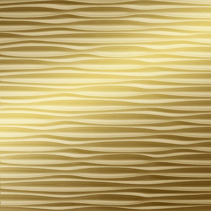 FlexLam 3D Wall Panel | 4ft W x 10ft H | Sahara Pattern | Mirror Gold Finish