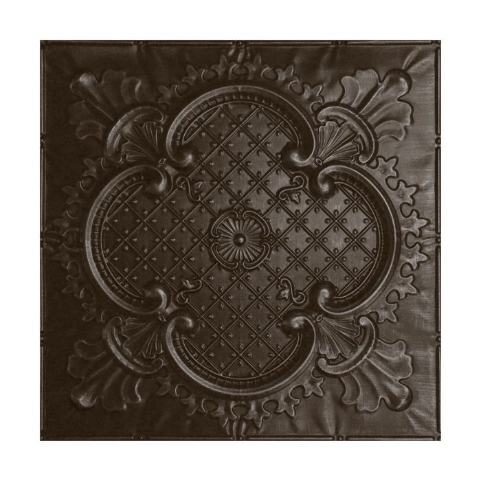 Tin Plated Stamped Steel Ceiling Tile | Nail Up/Glue Up Ceiling Tile | 2ft Sq | Knights Armor Finish